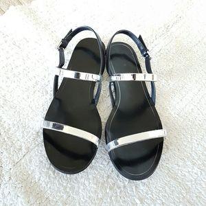 Zara Metalic Straps Sandals  Size 39